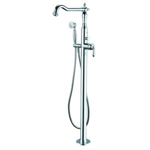 ALFI Brand Freestanding Bathtub Faucet with Hand Shower - 1-Handle - Polished Chrome