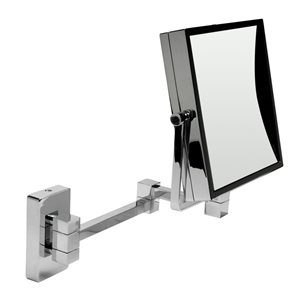 ALFI Brand Wall Mount Cosmetic Mirror - 5x Magnify - 8-in - Polished Brass