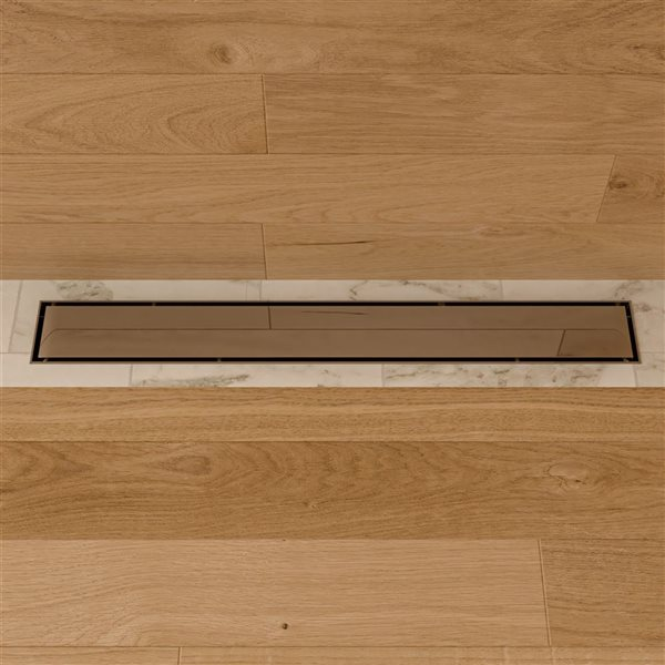 ALFI Brand Linear Shower Drain - 24-in - Polished Stainless Steel
