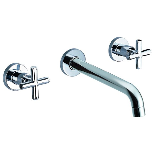 ALFI Brand Wall Mount Bathroom Sink Faucet - 2-Handle - Polished Chrome