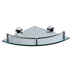 ALFI Brand Corner Bathroom Shelf - 1-Tier - 12.75-in - Polished Chrome