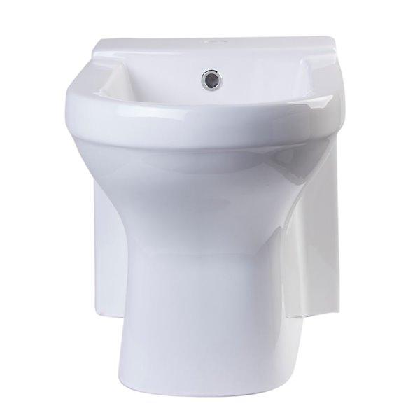 EAGO Bidet with Elonagated Seat - White Ceramic