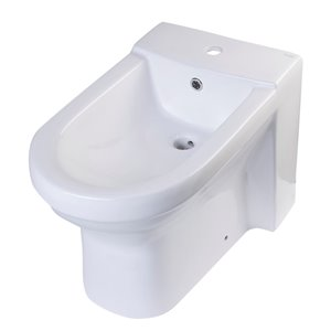 EAGO Bidet with Elonagated Seat - White Ceramic