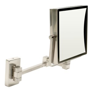 ALFI Brand Wall Mount Cosmetic Mirror - 5x Magnify - 8-in - Brushed Brass