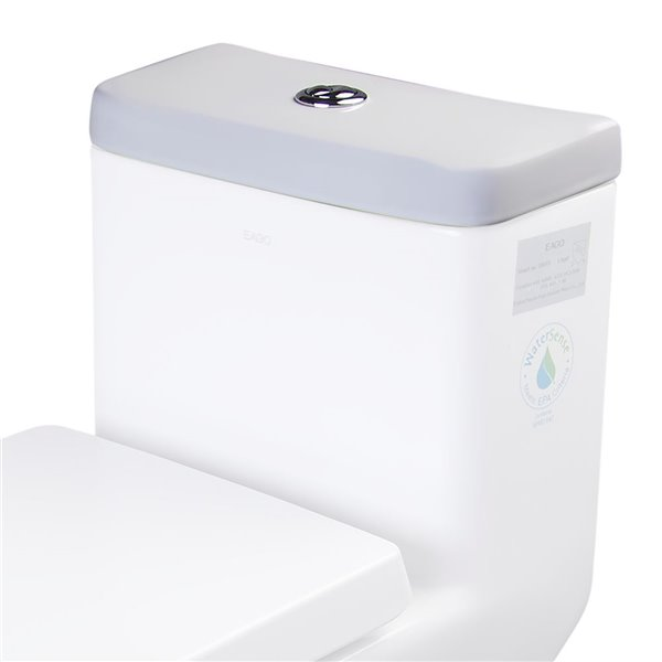 EAGO Replacement Toilet Tank Lid - 7-in x 2-in - White Porcelain