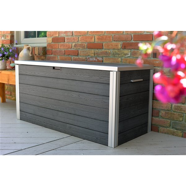 New England Arbors URBANA Deck Storage Box - Slate Grey
