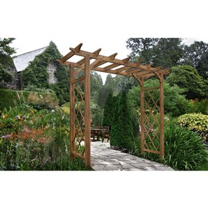 New England Arbors Heartwood Arbor - Golden Brown - 7-ft