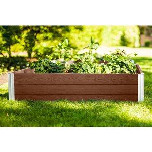 New England Arbors URBANA Garden Bed - 4-ft x 4-ft x 11-in