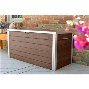 New England Arbors URBANA Deck Box - Expresso Brown