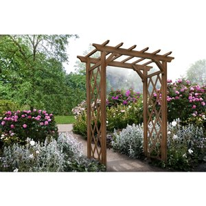 New England Arbors Heartwood Arbor - Golden Brown - 4.6-ft