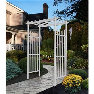 New England Arbors Cardiff Arbor - White - 3.75-ft