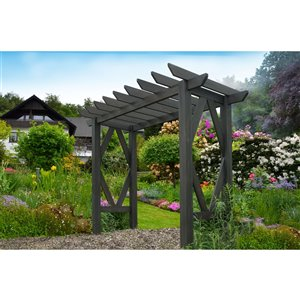 Vita Summerwood Craftsman Arbor - Charcoal - 7.5-ft