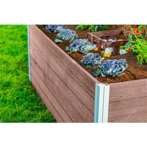 Jardin de compostage à trou de serrure Keyhole URBANA 3 pi x 5 pi