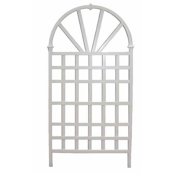 New England Arbors Athens Decorative Lattice - White - 3.25-ft x 6.4-ft