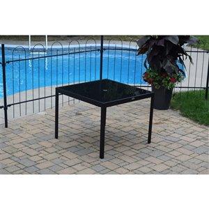 Corriveau Phoenix  Patio Table - Steel - Black - 38-in x 38-in