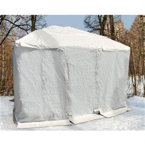 Abri hivernal pour gazebo Corriveau, blanc, 12 pi x 16 pi