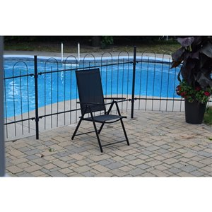 Corriveau Phoenix  Folding Patio Chair - Black - 2/Pack