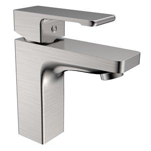 Robinet de lavabo Hadley de Jade bathroom Products, nickel satiné
