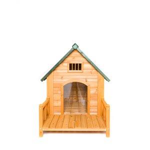 Niche pour chien K-9 Kastle avec porche et volets de porte, moyenne