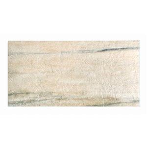 """Tuile Porcelaine de Mono Serra, 12"""" x 24"""", amande aspen"""