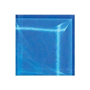 """Tuile en mosaique à verre de Mono Serra, 4"""" x 4"""", bleu"""