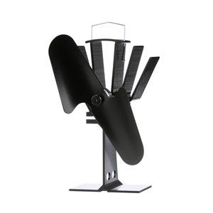 Ventilateur de poêle à bois Ecofan Original, noir