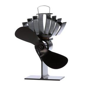 Ventilateur de poêle à bois Ecofan UltrAir, noir