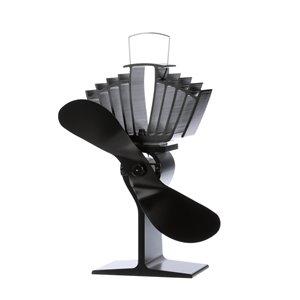 Ventilateur de poêle à bois Ecofan AirMax, noir