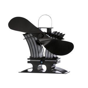Ecofan BelAir Wood Stove Fan - Black