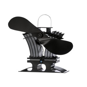 Ventilateur de poêle à bois Ecofan BelAir, noir