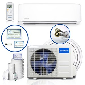 MRCOOL Ductless Mini Split Air Conditioner with Heater and Remote Control - 34,400 BTU - White
