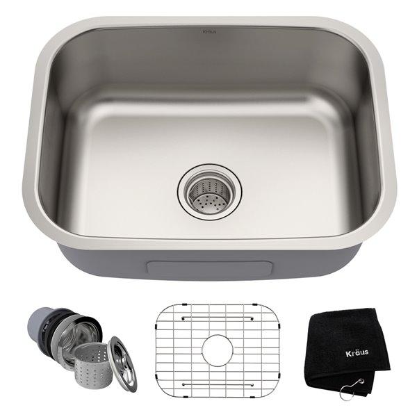 Kraus Premier Undermount Kitchen Sink - Single Bowl - 23-in - Stainless Steel