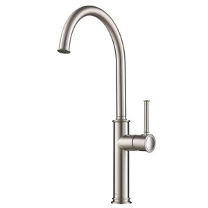 Kraus Sellette Bar and Kitchen Faucet - Single Handle - Stainless Steel