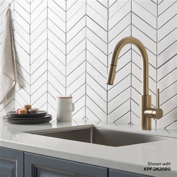Kraus Standart Pro Undermount Kitchen Sink Single Bowl 27 In Stainless Steel Khu110 27 Rona