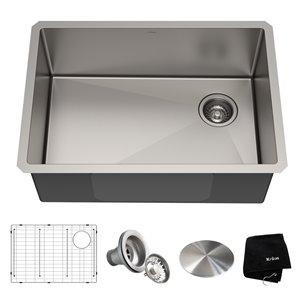 Kraus Standart PRO Undermount Kitchen Sink - Single Bowl - 27-in - Stainless Steel