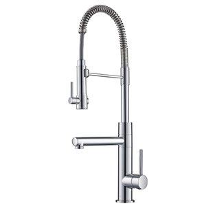 Kraus Artec Pro Pull-Down Kitchen Faucet - Single Handle - Chrome