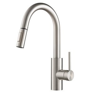 Kraus Oletto Pull-Down Kitchen Faucet - Dual Function - Single Handle - Stainless Steel