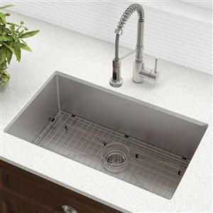 Évier de cuisine simple sous plan Standart PRO de Kraus, 30 po x 18 po, acier inoxydable