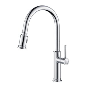 Kraus Sellette Pull-Down Kitchen Faucet - Single Handle - Chrome