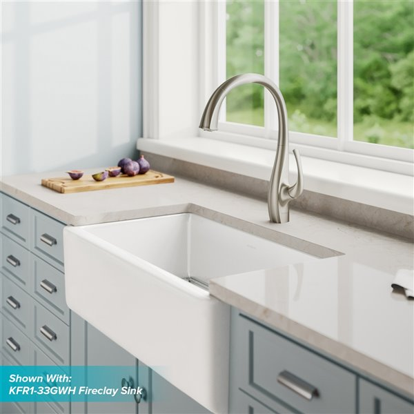 Kraus Ansel Pull-Down Kitchen Faucet - Dual Function - Single Handle - Stainless Steel