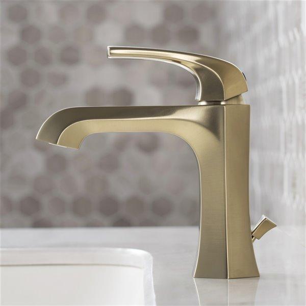 Kraus Esta Bathroom Sink Faucet - 1-Handle - 6.88-in - Brushed Gold