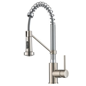 Kraus Bolden Pull-Down Kitchen Faucet - Single Handle - Stainless Steel/Chrome