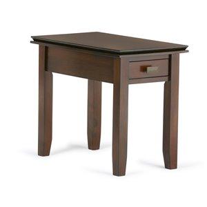 SIMPLI HOME Artisan Narrow Side Table - Medium Auburn Brown