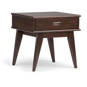 Table d'appoint milieu de siècle Draper SIMPLI HOME, brun auburn moyen