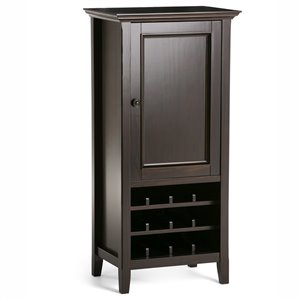 SIMPLI HOME Amherst High Storage Wine Rack - Dark Brown - 24-in x 17-in x 50-in