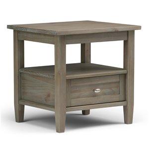 SIMPLI HOME Warm Shaker End Table - Distressed Grey