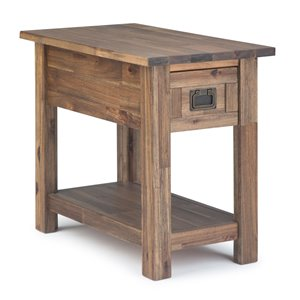 Table d'appoint étroite en bois Monroe Narrow SIMPLI HOME, brun naturel rustique