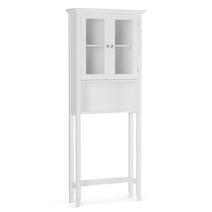 SIMPLI HOME Acadian Space Saver Cabinet for Bathroom - White