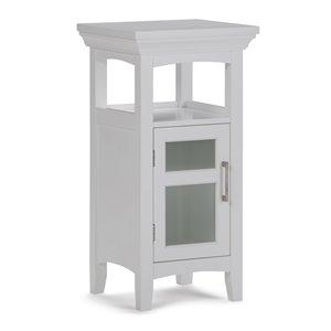 SIMPLI HOME Avington Floor Storage Cabinet for Bathroom - White