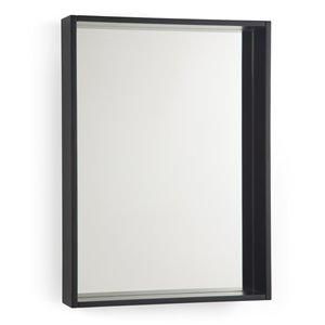 SIMPLI HOME Russo Bath Vanity Décor Mirror - Dark Walnut - 22-in x 30-in